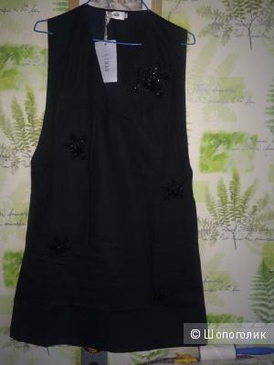 Платье черное хлопковое L
