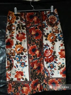 Юбка с цветами р.42-44