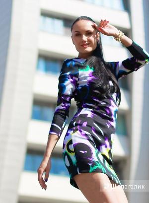 Разноцветное платье BEBE оригинал