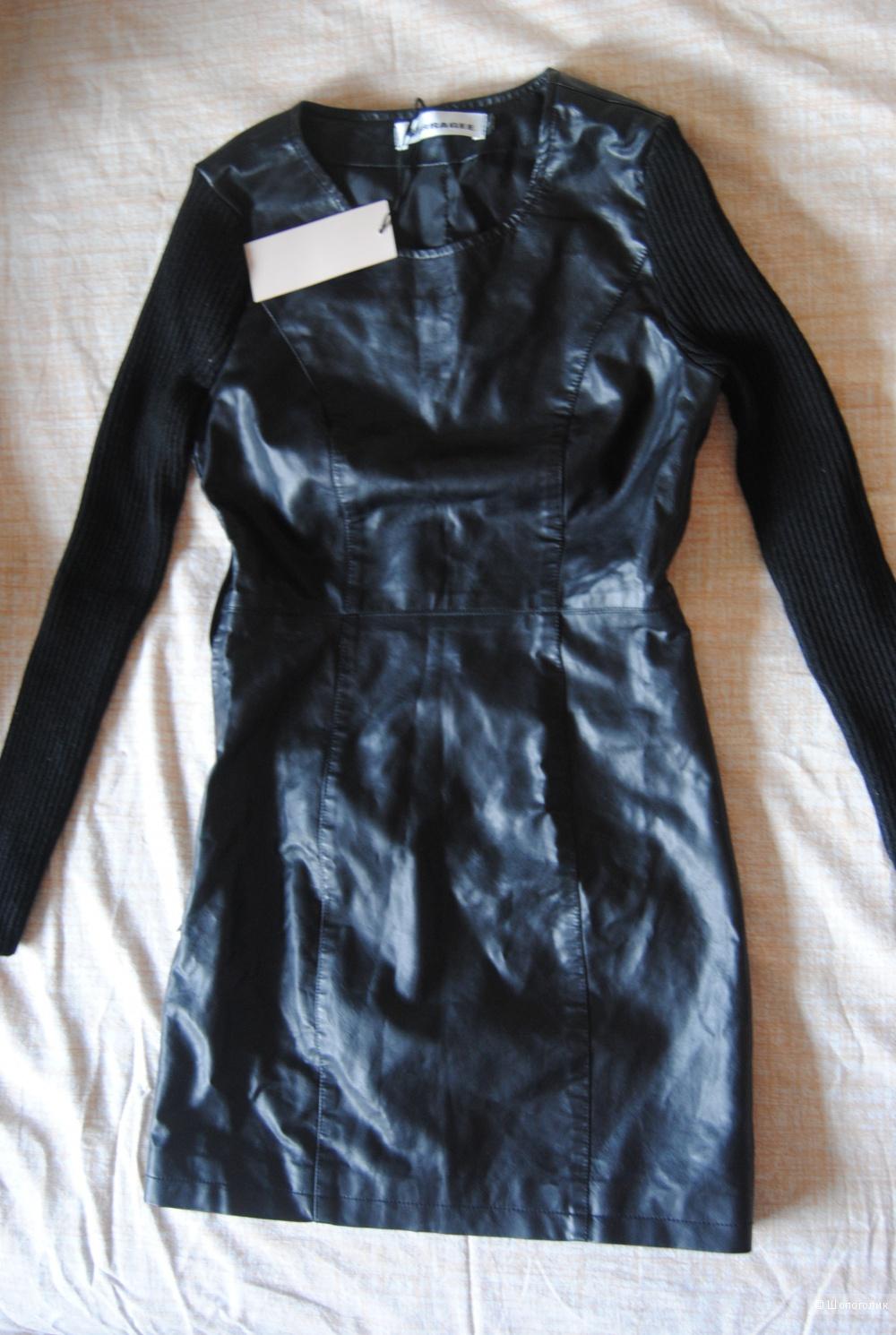 Платье из эко кожи новое XS