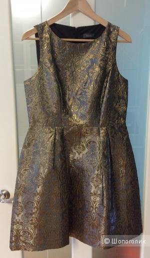 Нарядное платье из парчи Yessica р.40 (на 46-48)