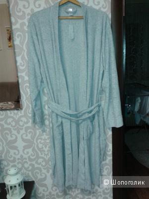 Мужской халат SELA серый меланж XL