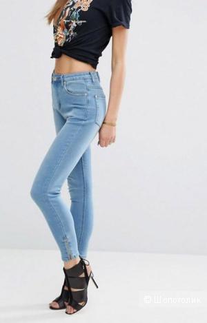 Укороченные джинсы скинни PrettyLittleThing, UK14, на 48 размер