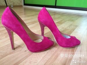 Туфли натуральная ЗАМША фуксия 38