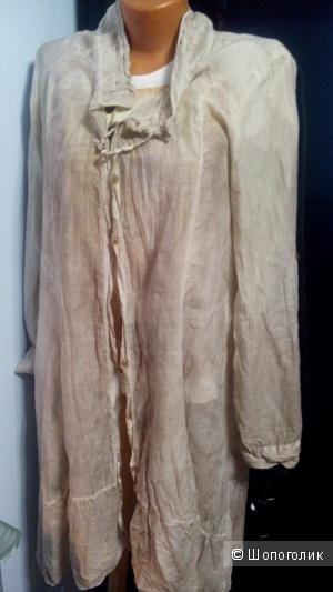 Кардиган-рубашка (хлопок +шелк) чуть сжатый Италия размер XL(44-48)