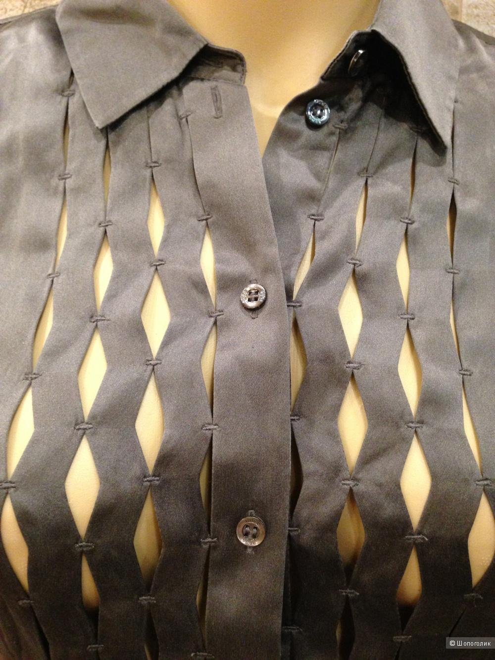 HUGO BOSS блузка-рубашка из натурального шелка р.44