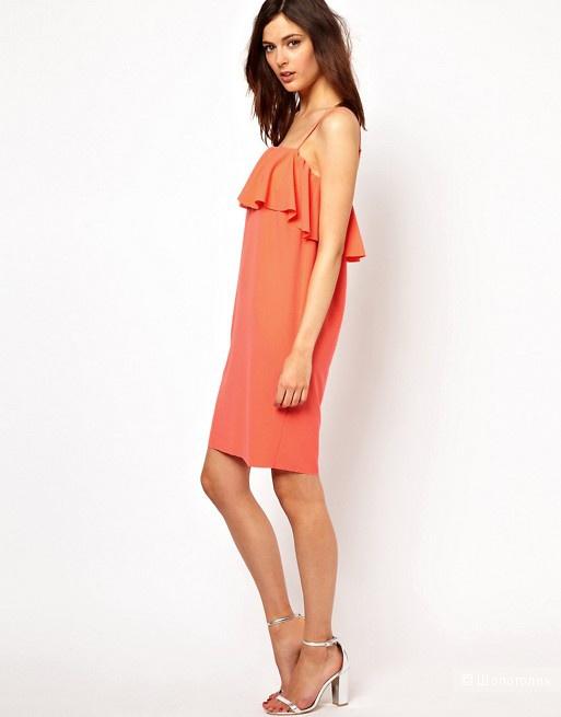 Летнее платье с воланом BZR