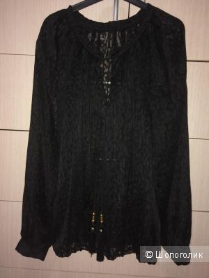 Черная блузка Манго 46-50 разм.