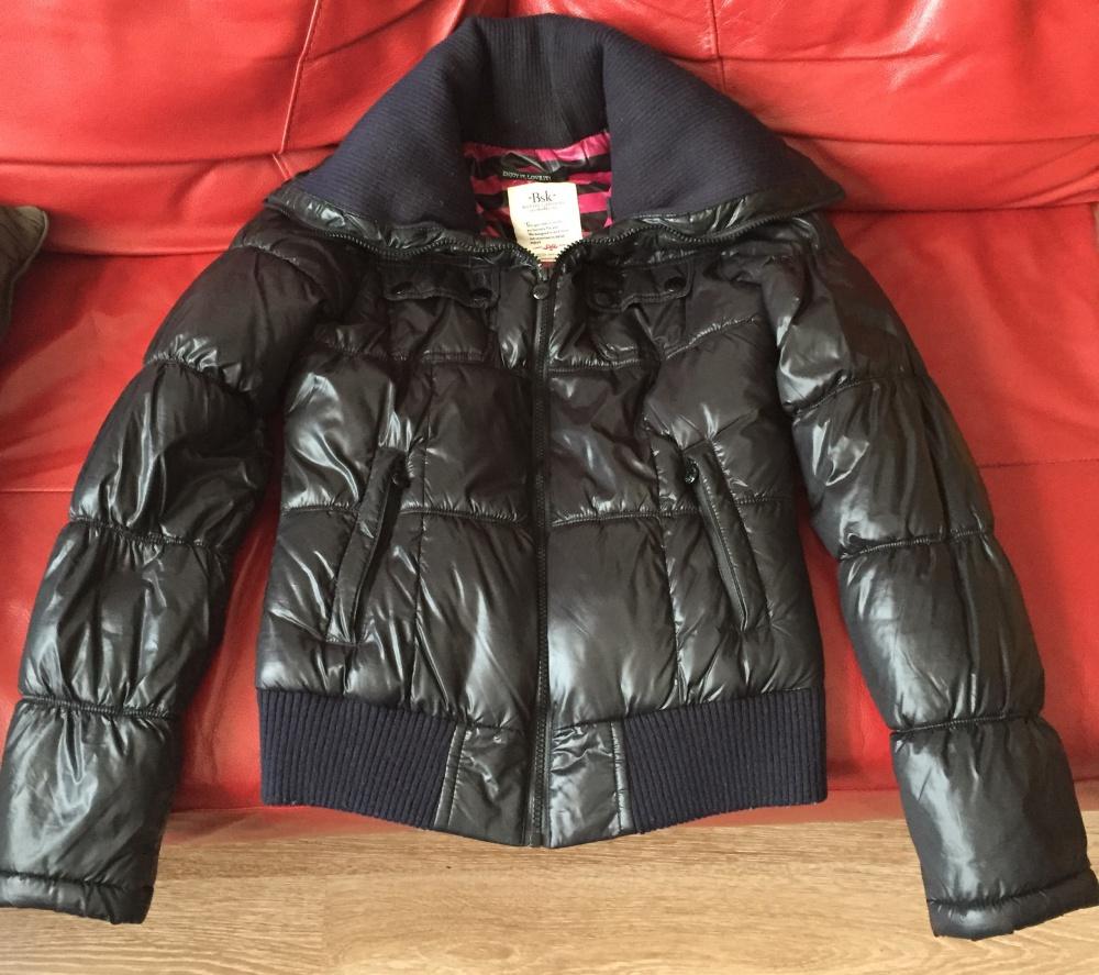 Стильная чёрная курточка Bershka на весну/осень. Размер S
