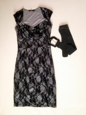 Вечернее кружевное платье, размер 40