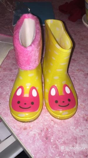 Резиновые сапожки для девочки 25 размер
