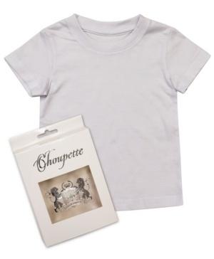 Новая классическая футболка белая  Choupette, 128 размер.