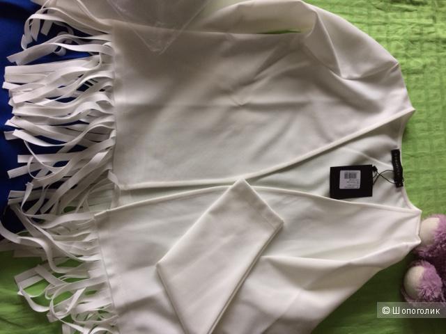 Glüen, коллекция Coquelicot, Португалия- Белый , новый, пиджак-накидка.На 44-46