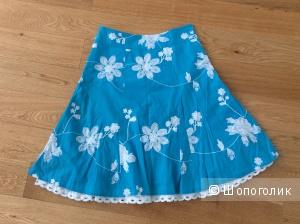 Летняя юбка из хлопка с вышивкой Vaide р.44 (на 44-46)