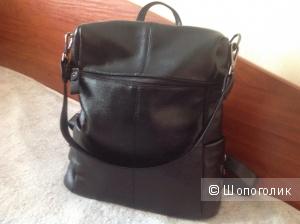 Рюкзак- сумка, натуральная кожа, Япония