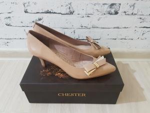 Туфли-лодочки Chester в цвете Nude, лакированная кожа, р. 38