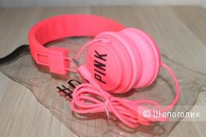Накладные наушники Victoria secret dj headphones pink