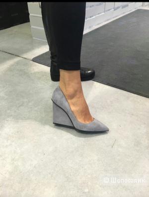 Серые замшевые туфли G.Lorenzi, новые, 39 размер