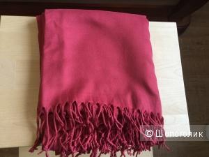 Палантин кашемир/шелк, новый, цвет розовой помады