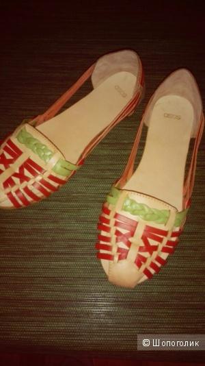 Кожаные летние туфли