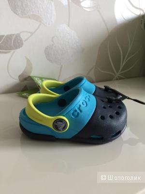 Детские оригинальные кроксы crocs, 5 на 21.5 новые