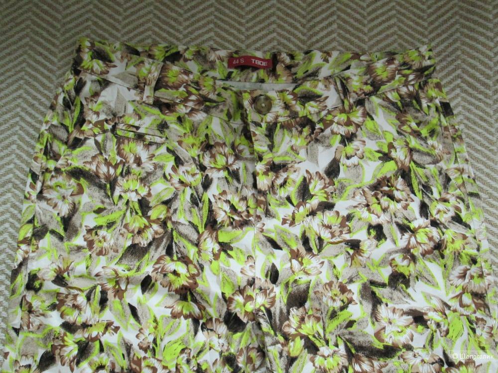 Брюки хлопковые,летние,цветные. 44 размер(рус). Новая вещь
