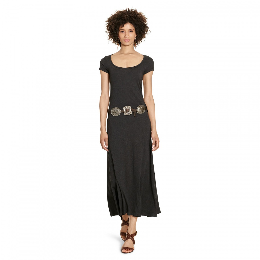 Платье летнее maxi Ralph Lauren , размер М , темно-серый меланж