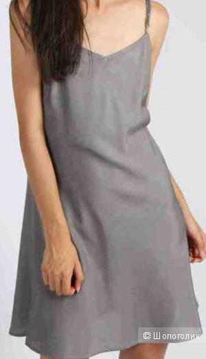 Платье в бельевом стиле серое Hartford р. 46 (М)