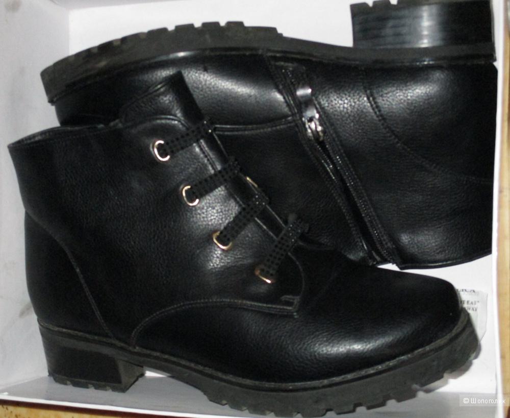 Кожаные ботинки 37/38 размера