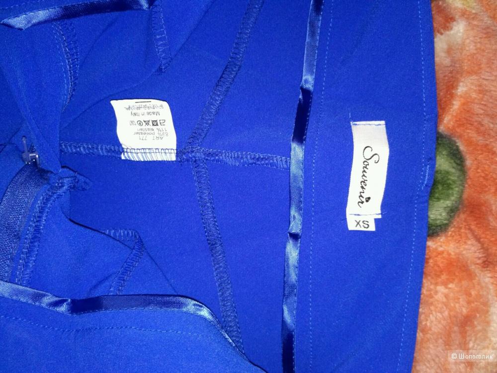 Брюки SOUVENIR новые, ярко синие, размер XS