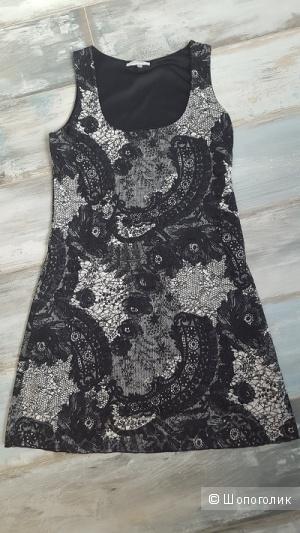 Черно-белое кружевное платье, р-р S, Premaman, б/у