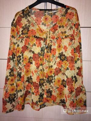 Шифоновая блузка ZARA 46-50разм.