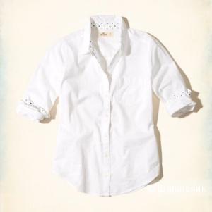 Белая рубашка Holister, размер S
