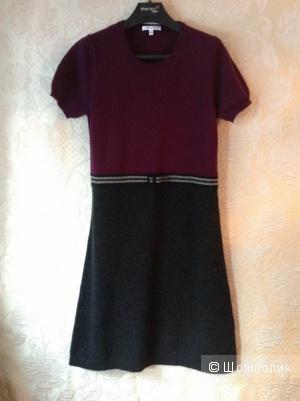 Платье французской марки Paule Ka из шерсти и кашемира. Размер 42 (фр.) на 46.