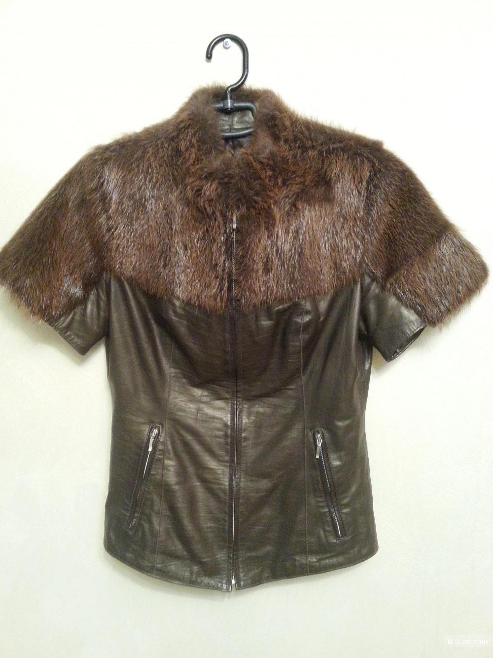 Курточка Кожа с мехом, размер 40-42 (XS)