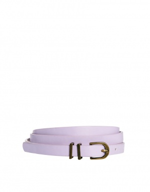 ASOS Metal Keeper Super Skinny Belt - Lilac / S