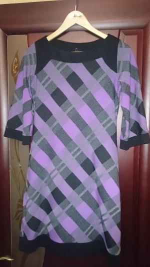 Трикотажное платье, р.40