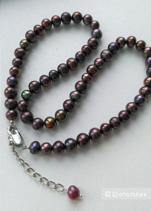 Ожерелье из культивированного жемчуга, новое, под шейку