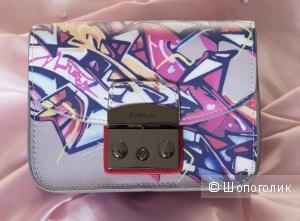 Сумка женская Furla Metropolis Graffiti Mini Crossbody новая, кожаная