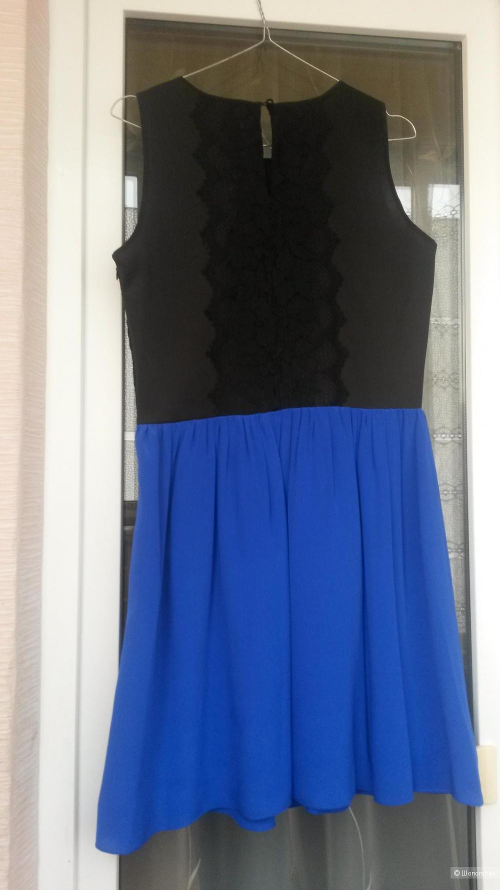 Двухцветное платье Wyatt USA размер М