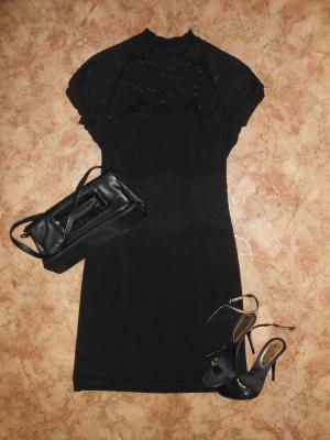 Новое черное платье р.44-46