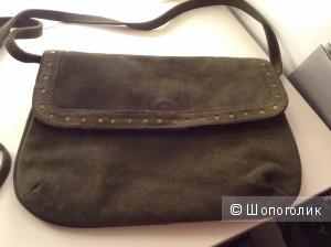 Замшевая сумка кросс боди от Zara
