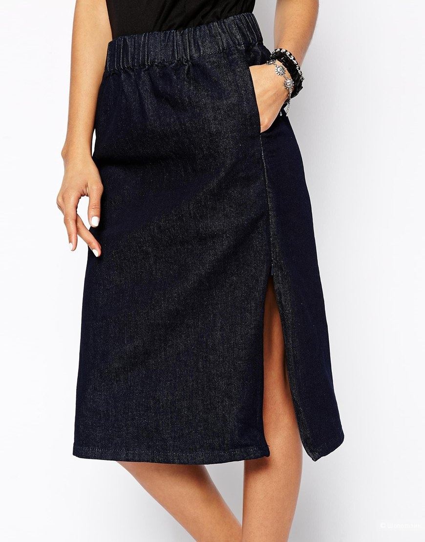 0143d23fb03 Джинсовая юбка с боковыми разрезами Cheap Monday Secret