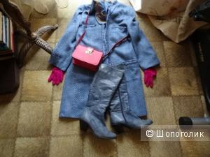 Сапоги-казачки демисезонные Respekt в цвете потёртой джинсы, размер 37, б/у