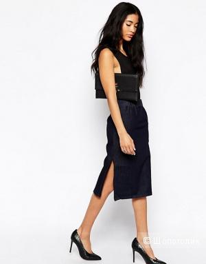 Джинсовая юбка с боковыми разрезами Cheap Monday Secret