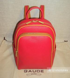 Новый красный рюкзак Gaude из натуральной кожи с ортопедической спинкой, Италия