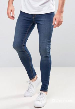 Синие джинсы Cheap Monday Унисекс Low deep blue Размер 27/32