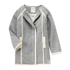 Пальто для девочки флис размер S на 5-6 лет 106,5-122см 18-23,5кг Fleece Jacket Item #140157205 S Heather Grey
