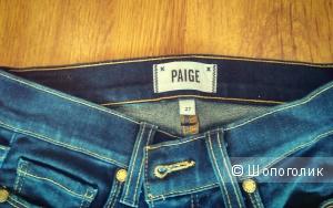Синие джинсы Paige 27 размер