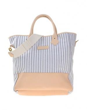 Большая сумка HARDY AMIES, кожа+хлопок